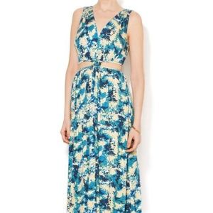 Rachel Pally Side Cutout Printed Modal Maxi Dress